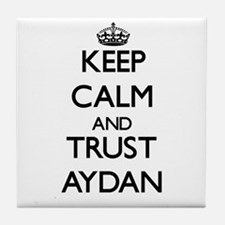 Keep Calm and TRUST Aydan Tile Coaster
