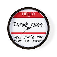 Drug Free Wall Clock