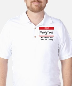 Drug Free Golf Shirt