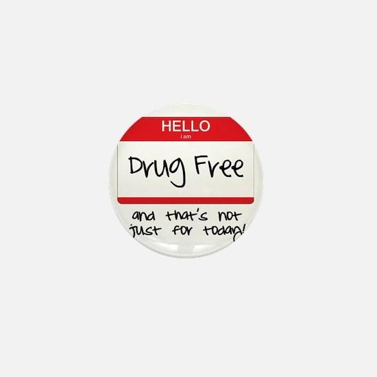 Drug Free Mini Button