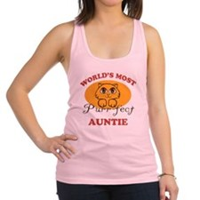 One Purrfect Auntie Racerback Tank Top