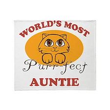 One Purrfect Auntie Throw Blanket
