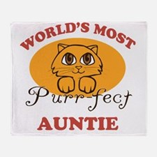 One Purrfect Auntie Throw Blanket