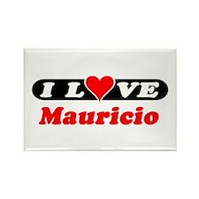 I Love Mauricio Rectangle Magnet