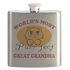 One Purrfect Great Grandma Flask