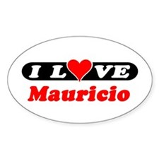 I Love Mauricio Oval Decal