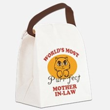 One Purrfect Mother-In-Law Canvas Lunch Bag