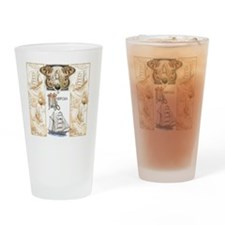Mariposa Tile Image Drinking Glass
