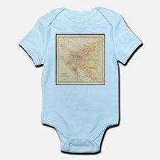 Vintage Map of Nicaragua (1903) Body Suit