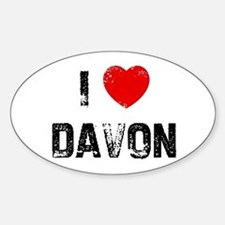 I * Davon Oval Decal