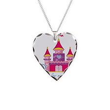 Pink Princess Castle Necklace