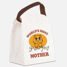 One Purrfect Mother Canvas Lunch Bag