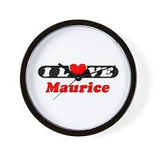 I Love Maurice Wall Clock