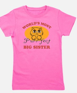 One Purrfect Big Sister Girl's Tee