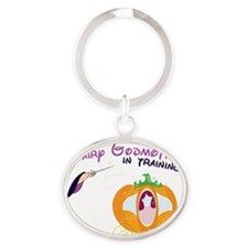 Fairy Godmother in Training Oval Keychain