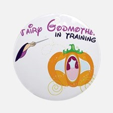 Fairy Godmother in Training Round Ornament