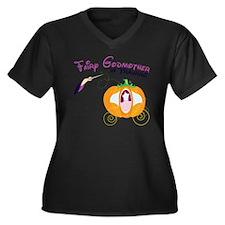 Fairy Godmot Women's Plus Size Dark V-Neck T-Shirt