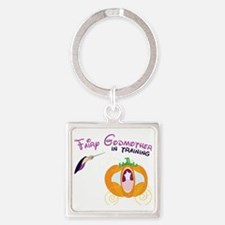 Fairy Godmother in Training Square Keychain