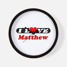 I Love Matthew Wall Clock