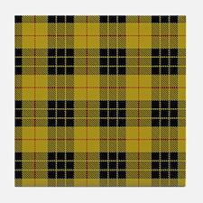 McCleod Tartan Plaid Tile Coaster