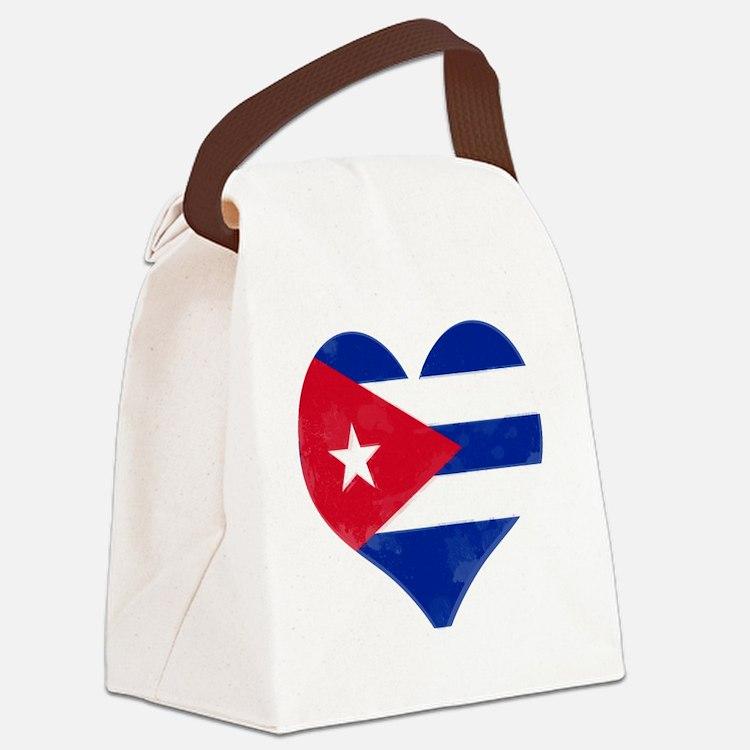 El Corazón de Cuba Canvas Lunch Bag