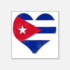 """El Corazón de Cuba Square Sticker 3"""" x 3"""""""