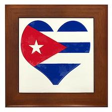 El Corazón de Cuba Framed Tile