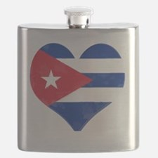 El Corazón de Cuba Flask