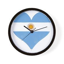 El Corazon de Argentina Wall Clock