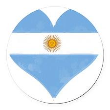 El Corazon de Argentina Round Car Magnet