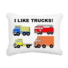 I LIKE TRUCKS Rectangular Canvas Pillow
