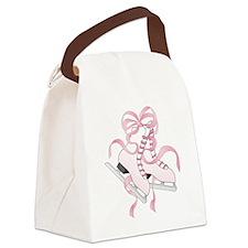 Pink Skates Canvas Lunch Bag