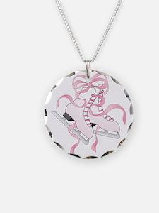 Pink Skates Necklace