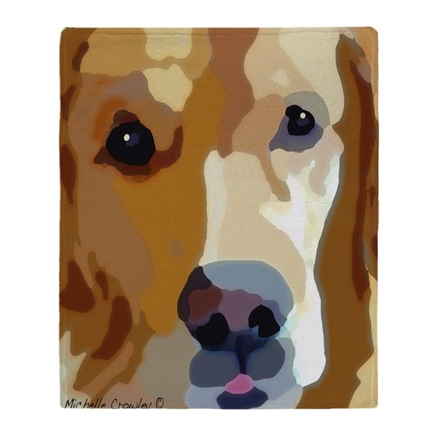 Golden Retriever Throw Blanket By Admin Cp3081153