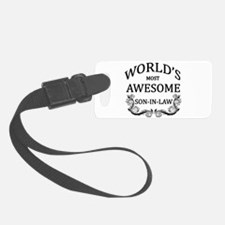 World's Most Awesome Son-In-Law Luggage Tag