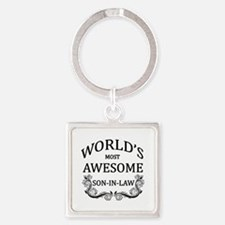 World's Most Awesome Son-In-Law Square Keychain