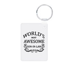 World's Most Awesome Son-In-Law Keychains