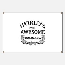 World's Most Awesome Son-In-Law Banner