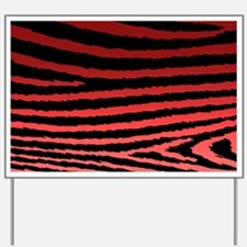 Cool Red Jagged Zebra Print Yard Sign