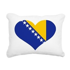 Bosnia and Herzegovina f Rectangular Canvas Pillow