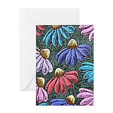Half Flowers Greeting Card