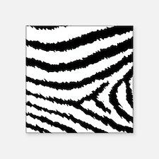 """Classic Black And White Jag Square Sticker 3"""" x 3"""""""
