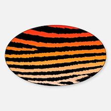 Funky Orange Jagged Zebra Print Decal