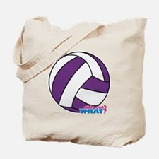 Purple Volleyball Tote Bag