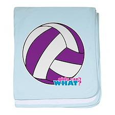 Purple Volleyball baby blanket
