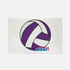 Purple Volleyball Rectangle Magnet