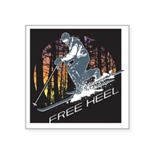 "Free Heel Square Sticker 3"" x 3"""