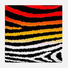 Cool n Funky Jagged Zebra Print Tile Coaster