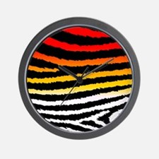 Cool n Funky Jagged Zebra Print Wall Clock