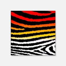 "Cool n Funky Jagged Zebra P Square Sticker 3"" x 3"""